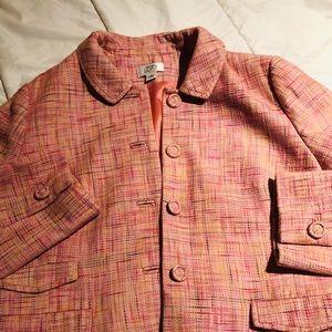 Tweed soft pink blazer